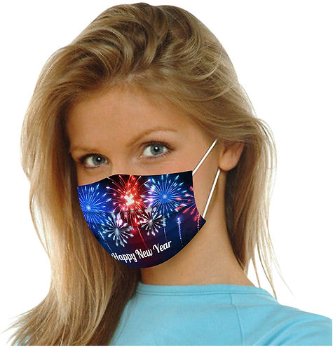 Pack of 50,Disposable Face_Masks 2021 Happy New Year