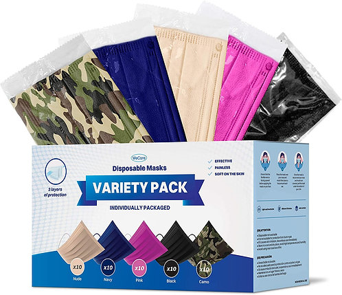 Individually Wrapped - 50 Variety Color