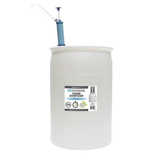 EcoChoice Unscented Hand Sanitizer Gel, FDA-Registered, 66% Alcohol, 30-Gallon D