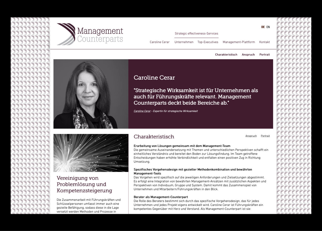 MANAGEMENT COUNTERPARTS - CAROLINE CERAR