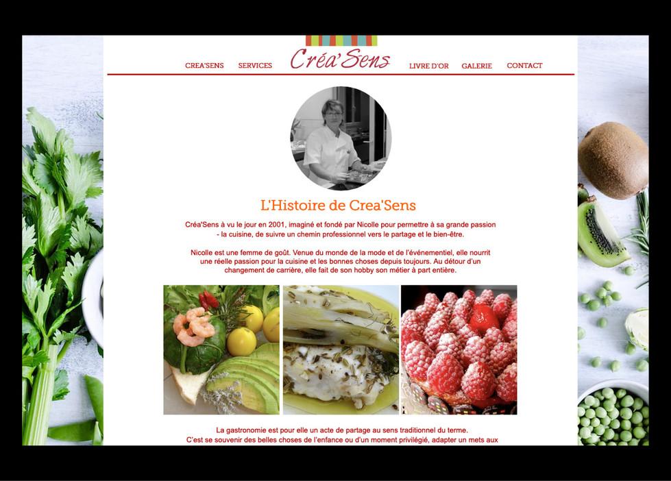 CREA'SENS — Chef à domicile