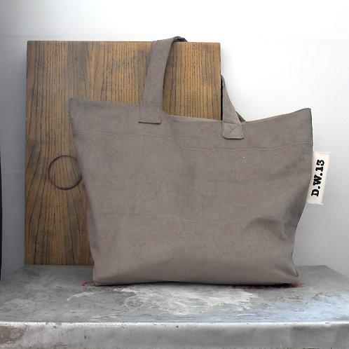 ISY.velour gris - Cabas / D.W.13