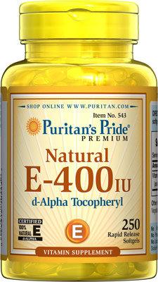 Puritan's Pride Vitamin E-400 iu/ 250 Softgels