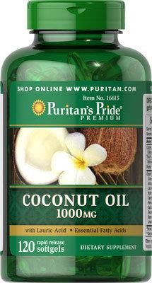 Puritan's Pride Coconut Oil -1000 mg/ 120 Softgels