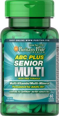 Puritan's Pride ABC Plus® Multivitamin/ 60 Caplets