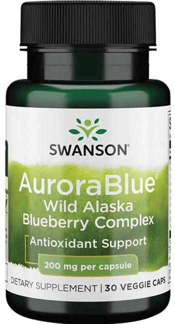 Swanson Ultra AuroraBlue Wild Alaska Blueberry Complex 200 mg 30 Veg Caps