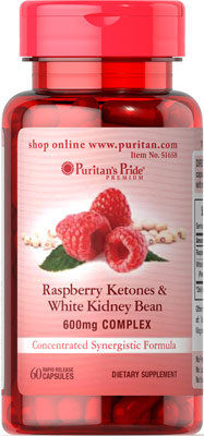 Puritan's Pride Raspberry & White Kidney Bean