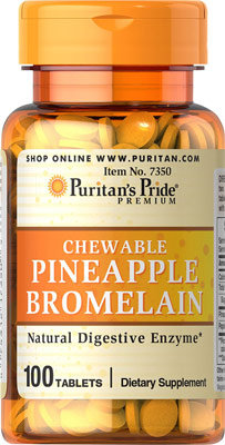 Puritan's Pride Pineapple Bromelain 100 Chewables