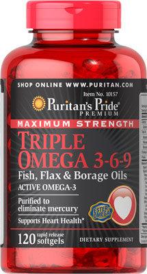 Puritan's Pride Omega 3-6-9 120 Softgels