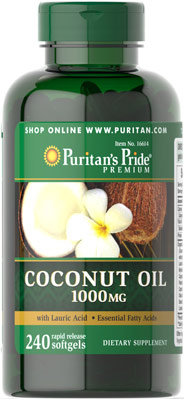 Puritan's Pride Coconut Oil -1000 mg/ 240 Softgels