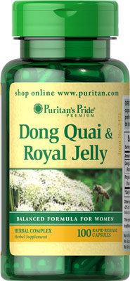 Puritan's Pride Dong Quai & Royal Jelly 100 Caps