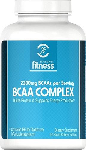 Puritan's Pride Fitness BCAA Complex 2200mg/ 60 Sg