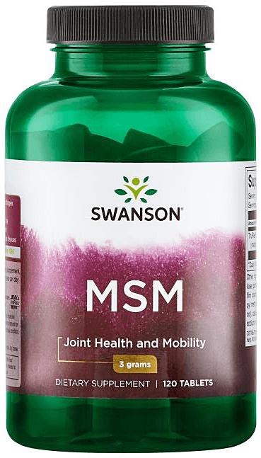 Swanson Ultra MSM methylsulfonylmethane 1,500 mg/ 120 Tabs