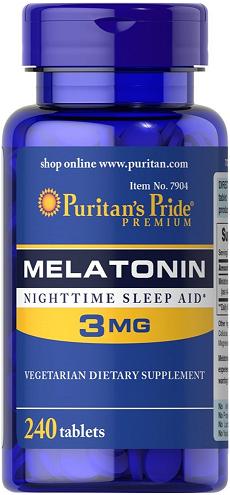 Puritan's Pride Melatonin 3 mg/ 240 Tablets