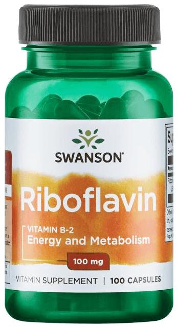 Swanson Premium Riboflavin Vitamin B-2 100 mg/ 100 Capsules