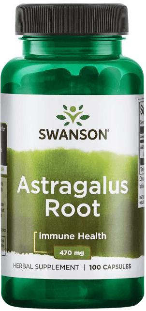 Swanson Premium Astragalus Root 470 mg/ 100 Capsules