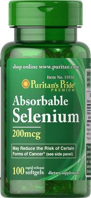Puritan's Pride Selenium 200 mcg/ 100 Softgels
