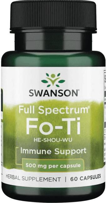 Swanson Premium Fo-Ti-500 mg/ 60 Caps