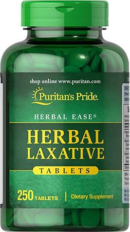 Puritan's Pride Herbal Laxative/ 250 Tablets