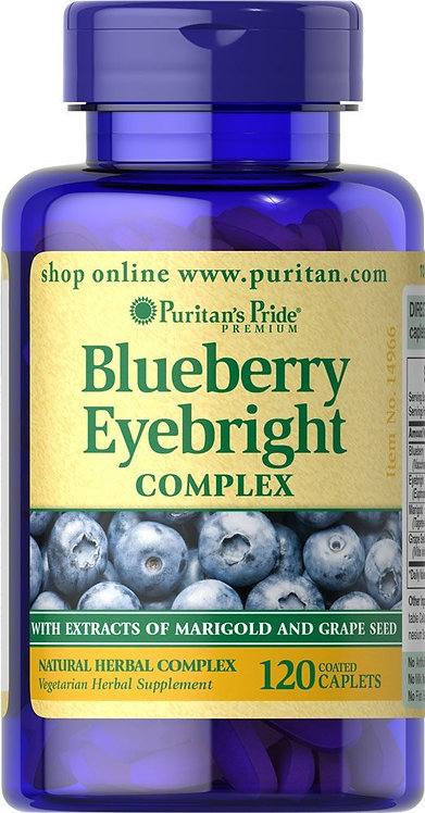 Puritan's Pride Blueberry Eyebright Complex 120 Cp