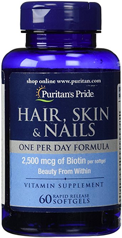 Puritan's Pride Hair Skin& Nails One Per Day 60 Sg