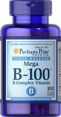 Puritan's Pride Vit  B-100 Time Release/ 100 Tabs