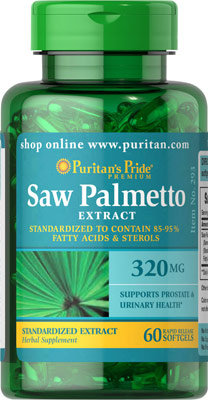 Puritan's Pride Saw Palmetto Extract 320 mg/ 60 Sg