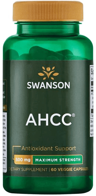 Swanson Ultra Maximum-Strength AHCC 500mg/ 60 Caps