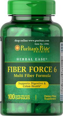 Puritan's Pride Fiber Force 6/ 100 Capsules