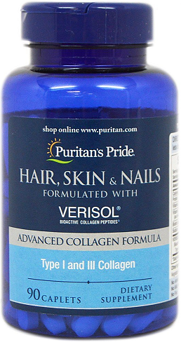 Puritan's Pride Hair, Skin and Nails with VERISOL®