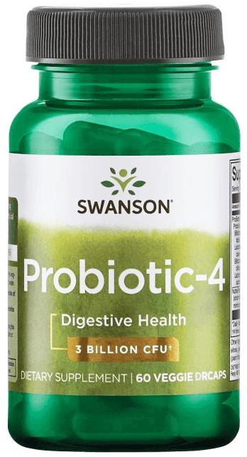 Swanson Probiotics ProBiotic-4/ 60 Veg Caps