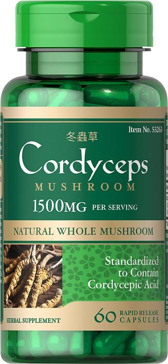 Puritan's Pride Cordyceps Mushroom 750 mg/ 60 Caps