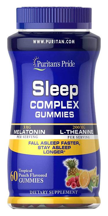 Puritan's Pride Sleep Complex Gummy with Melatonin & L-Theanine 60 Gummies