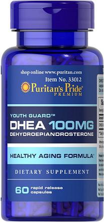 Puritan's Pride DHEA 100 mg/ 60 Capsules