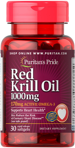 Puritan's Pride Red Krill Oil 1000 mg/ 30 Softgels