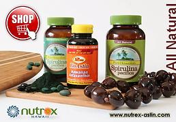 Nutrex Hawaii, Bioastin, Spirulina, Astaxanthin, ไบโอแอสติน, สาหร่ายแดง, แอสตาแซนธิน, สาหร่ายเกลียวทอง, สาหร่ายสไปรูลินา, MD Fomulas, อาหารเสริมอเมริกา, ต้านอนุมูลอิสระ, antioxidant