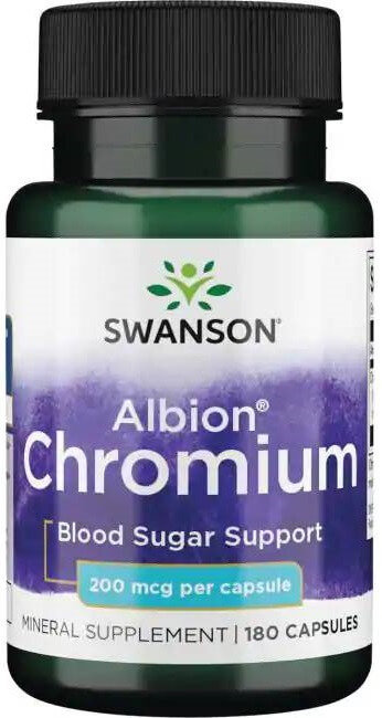 Swanson Albion Chelated Chromium 200 mcg/ 180 Caps