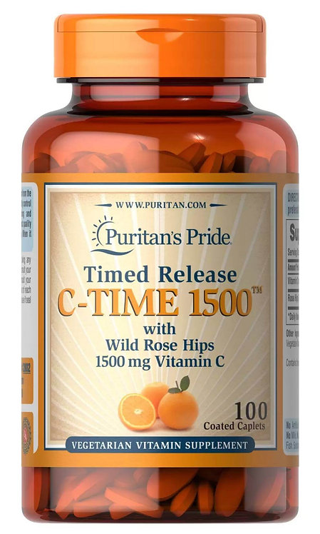 Puritan's Pride Vitamin C-1500mg Time Release/ 100 Cap