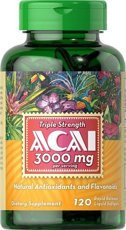 Puritan's Pride Acai 3000 mg /120 Softgels