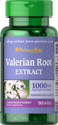 Puritan's Pride Valerian Root 1000 mg/ 90 Softgels