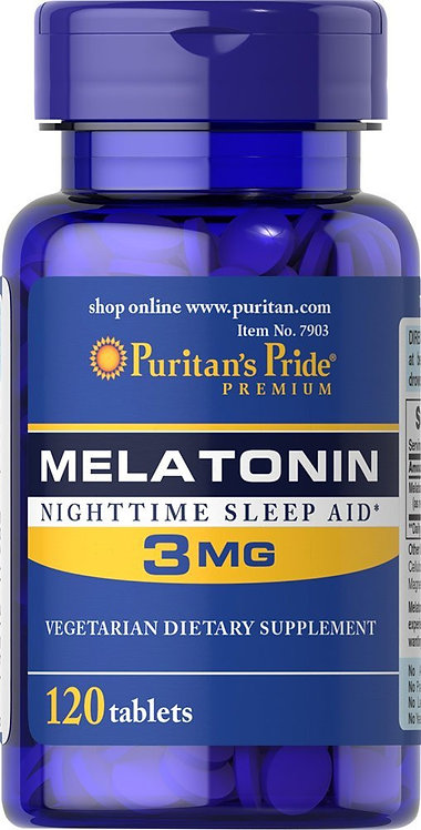 Puritan's Pride Melatonin 3 mg/ 120 Tablets
