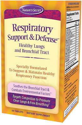 Nature's Secret Respiratory Cleanse 60 Tablets