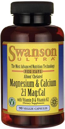 Swanson Albion Chelated Magnesium &Calcium 90 Caps