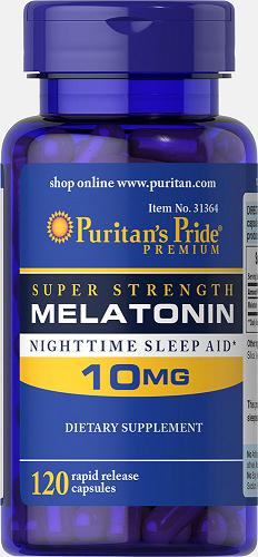 Puritan's Pride Melatonin 10 mg/ 120 Capsules