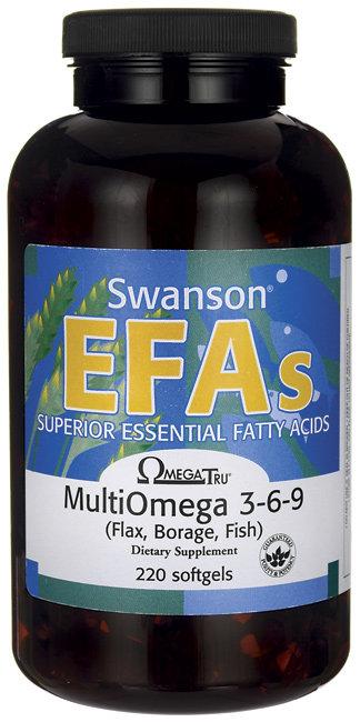 Swanson EFAs Multi Omega 3-6-9 /1,200 mg 220 Sgels