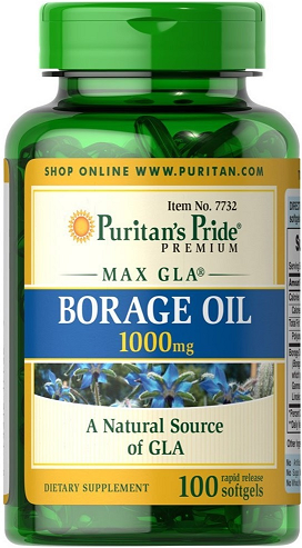 Puritan's Pride Borage Oil 1000 mg/ 100 Softgels