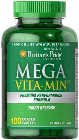 Puritan's Pride Mega Vita-Min™ Time Release/100 Cp