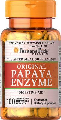 Puritan's Pride Papaya Enzyme 100 Chewables