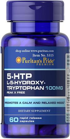 Puritan's Pride 5-HTP 100 mg/ 60 Capsules