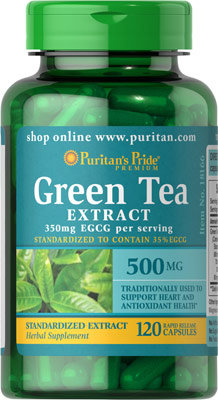 Puritan's Pride Green Tea Extract 500 mg/ 120 Caps